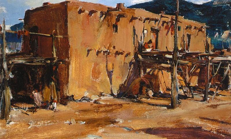 Адобе (Дом в Таос Пуэбло) (1927-1933). Николай Иванович Фешин