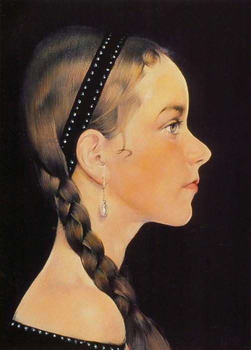 Портрет Ии (в профиль) (1927—1933). Nikolay Feshin