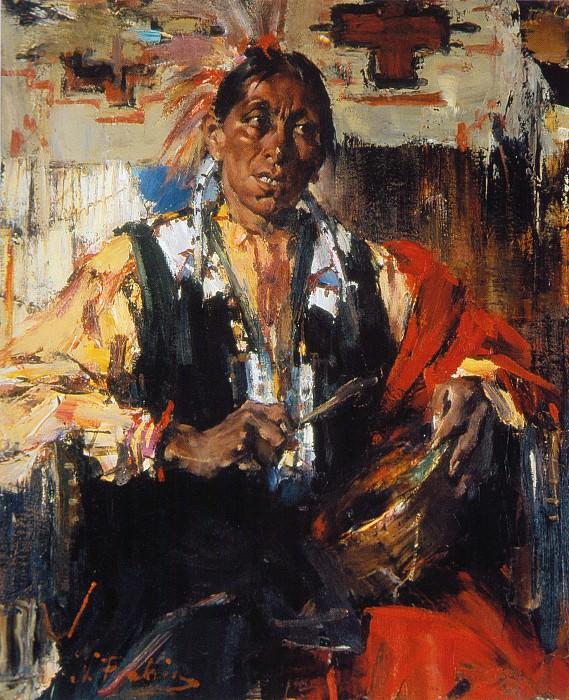 Джой с барабаном (1927—1933). Николай Иванович Фешин