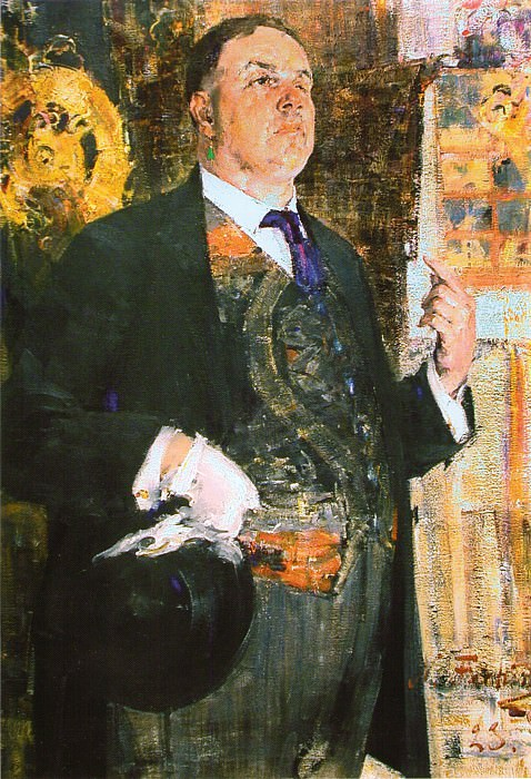 Портрет художника Д.Д.Бурлюка (Д.Д.Бурлюк читает лекцию) (1923). Николай Иванович Фешин