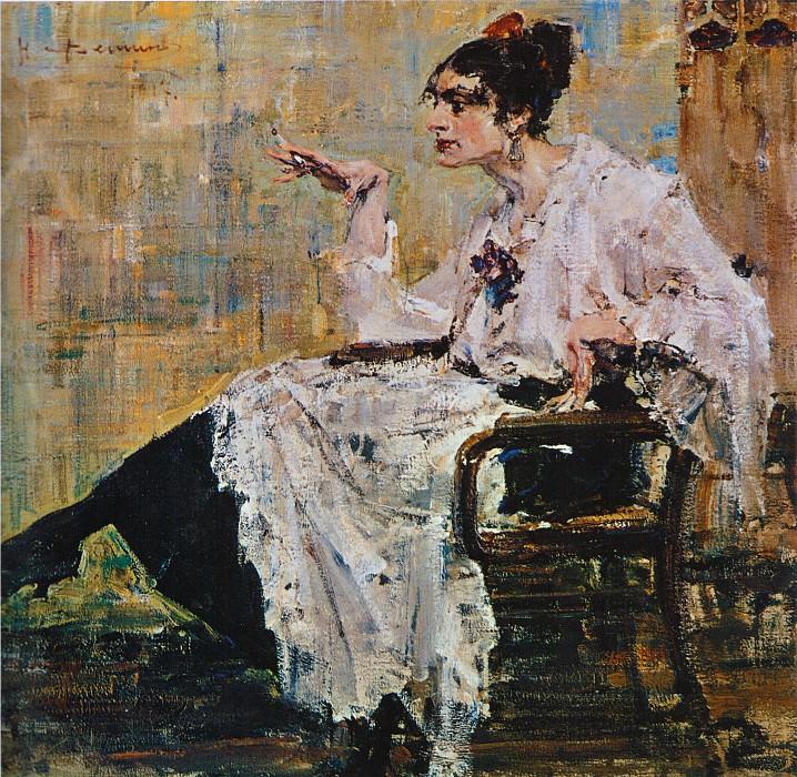 Женщина с сигаретой (1917). Николай Иванович Фешин