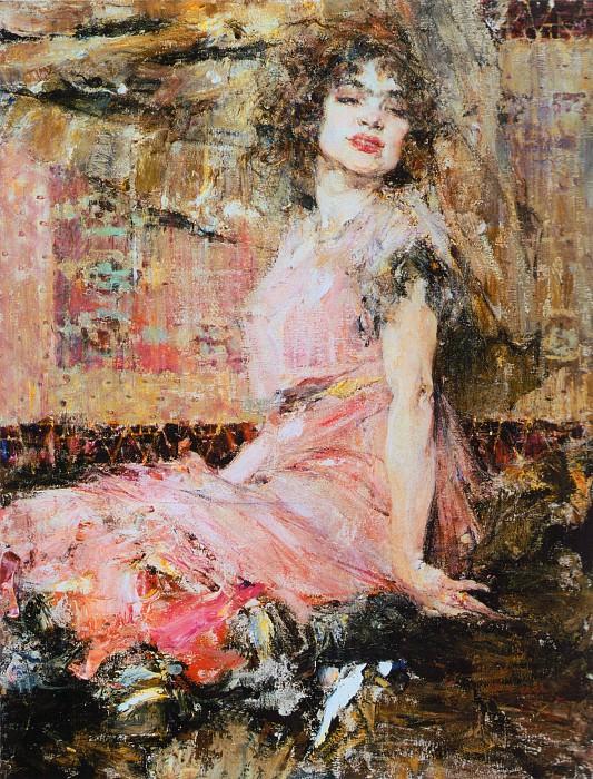Дама в розовом (Портрет Н.Подбельской) (1912). Nikolay Feshin