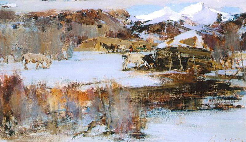 Первый снег (1927—1933). Nikolay Feshin