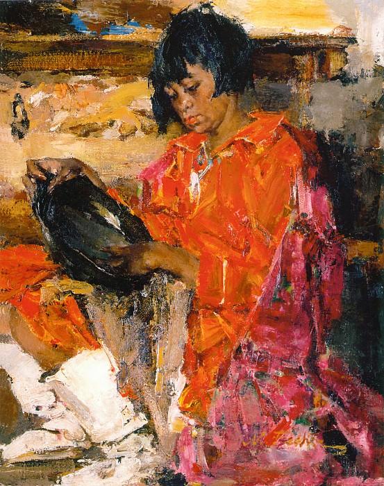 Индейская девочка с кувшином (1927—1933). Николай Иванович Фешин