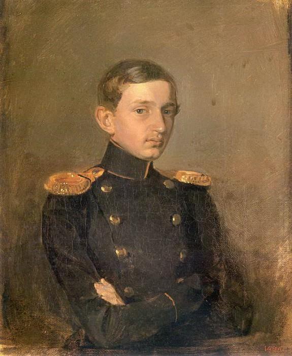 Портрет М.П.Ждановича. 1846-1847. Pavel Fedotov