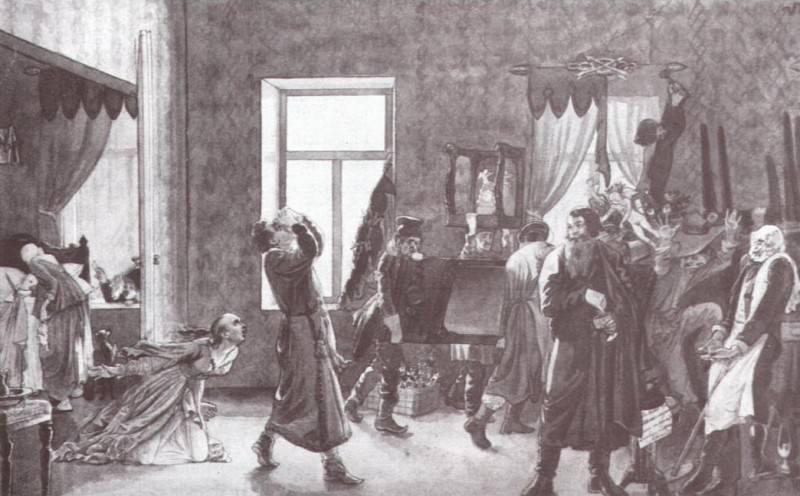 Первое утро обманутого молодого. 1844. Pavel Fedotov