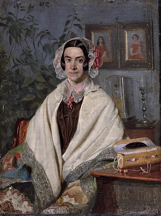Portrait of Olga Zhdanovich. Pavel Fedotov