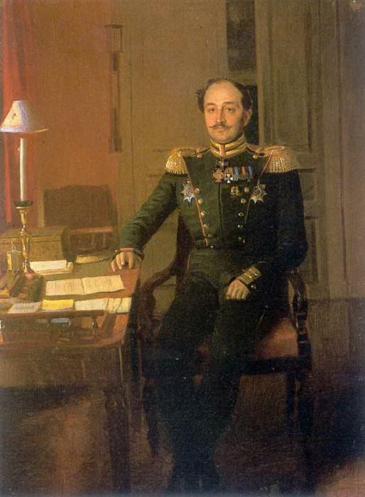 Портрет П.П.Ждановича. 1846. Pavel Fedotov