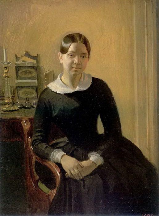 Портрет Анны Петровны Жданович. 1848. Pavel Fedotov