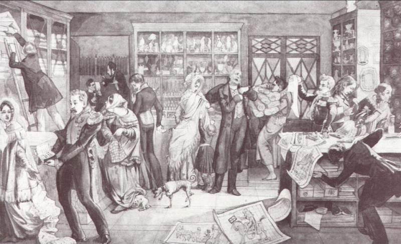 Магазин. 1844. Pavel Fedotov