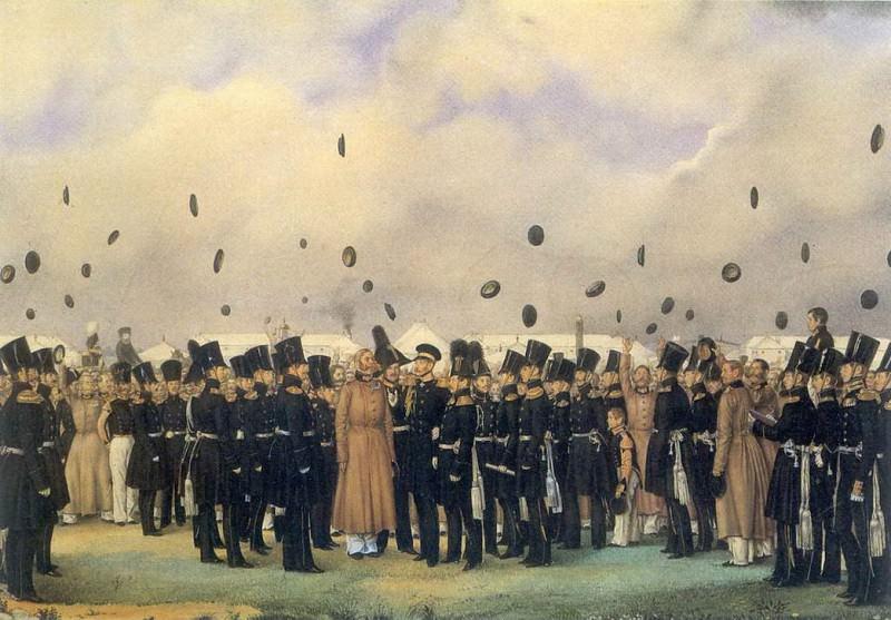 Встреча в лагере лейб-гвардии Финляндского полка вел. Кн. Михаила Павловича 8 июля 1837. Pavel Fedotov