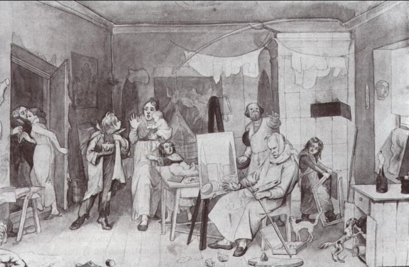 Старость художника, женившегося без приданого в надежде на свой талант. 1846-1847. Pavel Fedotov