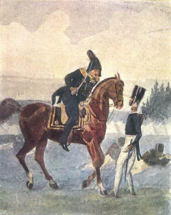 Брань под Красным. 1840. Павел Федотов