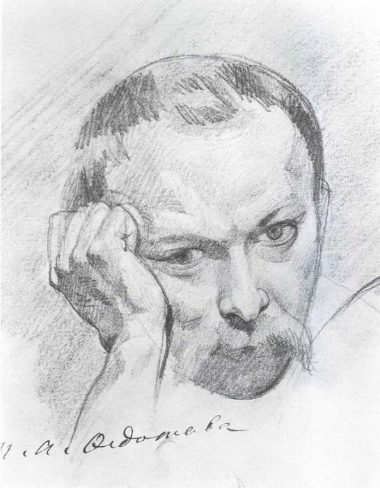 Автопортрет. Конец 1840-х. Pavel Fedotov