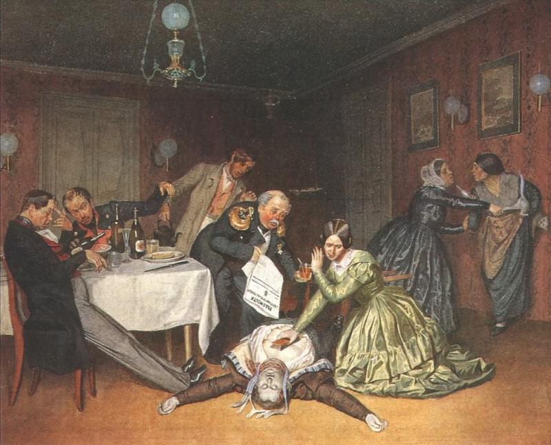 Все холера виновата. 1848. Pavel Fedotov