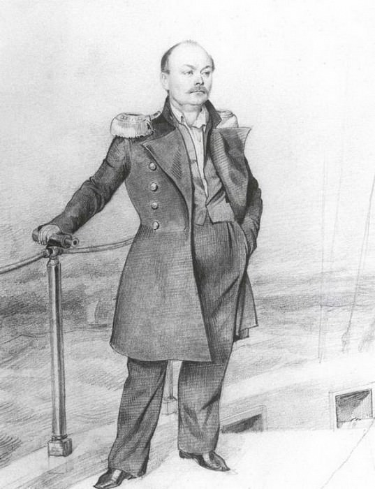 Портрет С.Д.Шишмарева на борту корабля. 1849. Pavel Fedotov