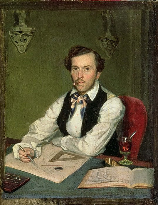 Portrait of an Architect. Pavel Fedotov