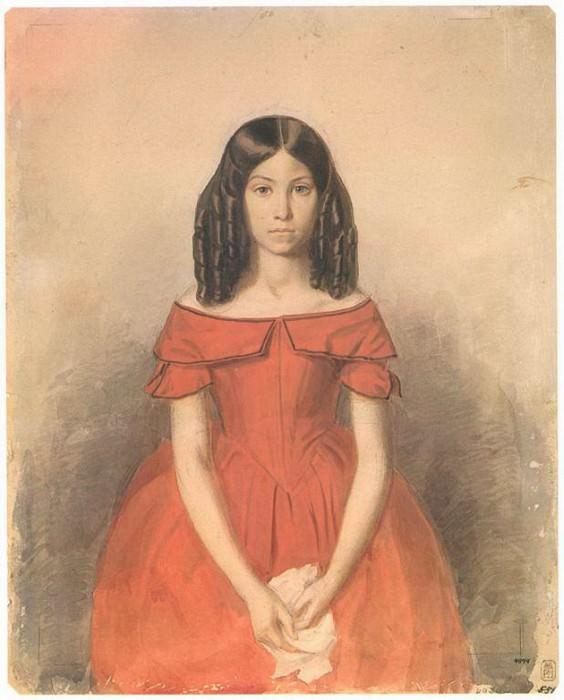 Портрет Н.П.Жданович в детстве. 1846. Pavel Fedotov