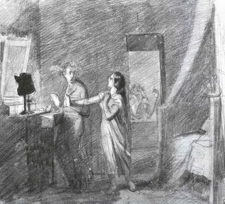Домашинй вор. 1851. Pavel Fedotov