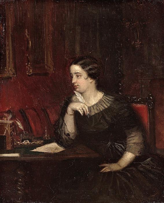 Portrait of the writer Countess Evdokia Petrovna Rostopchina. Pavel Fedotov