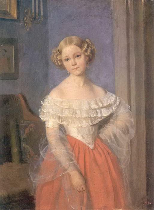 Портрет О.И.Демонкаль. 1851. Pavel Fedotov