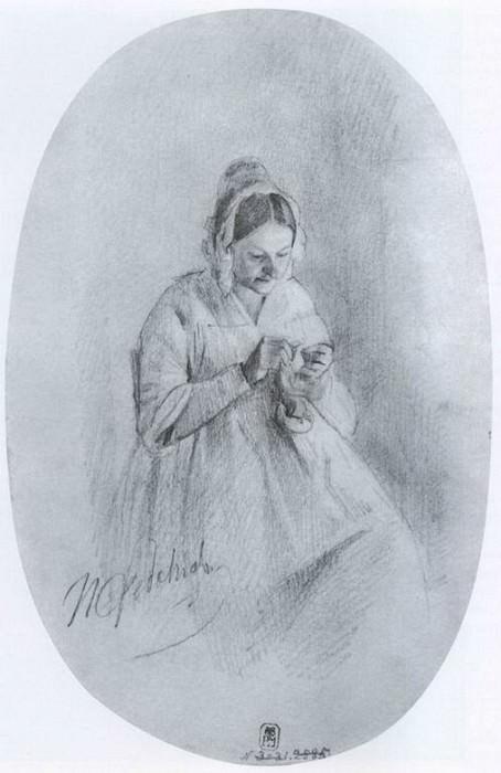 Портрет М.И.Варнек. 1849. Павел Федотов