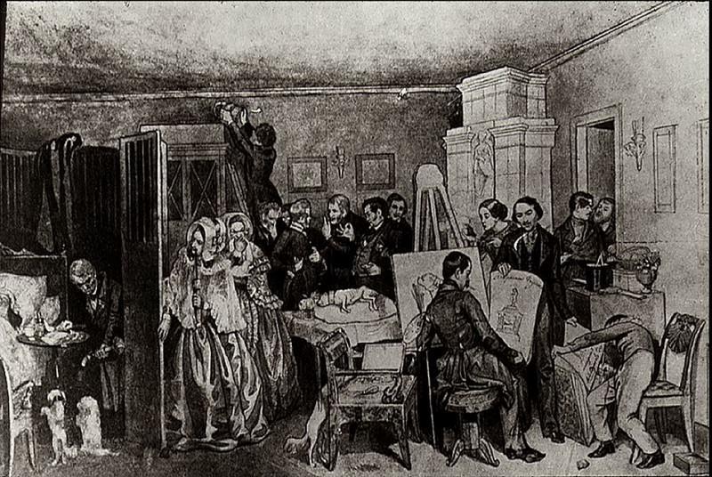 Смерть Фидельки. 1840-е. Pavel Fedotov