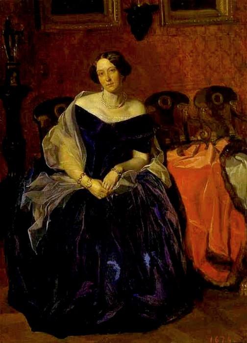 Портрет Александры Петровны Жданович. 1846-1847. Pavel Fedotov