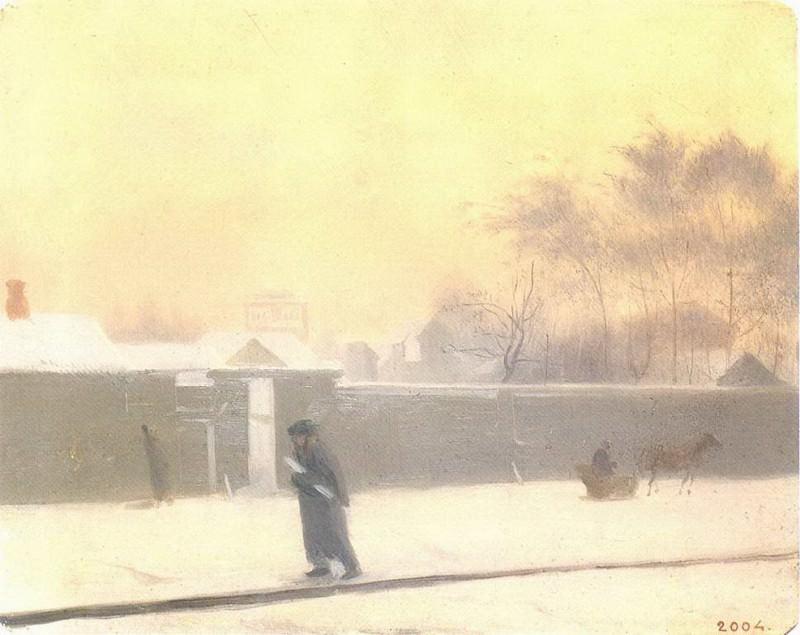 Зимний день. Начало 1850-х. Pavel Fedotov