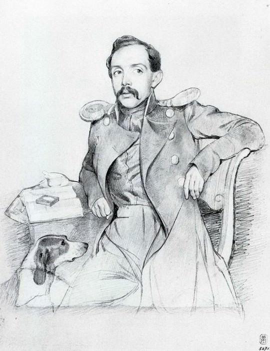 Портрет поручика П.Е.Львова. 1846. Pavel Fedotov