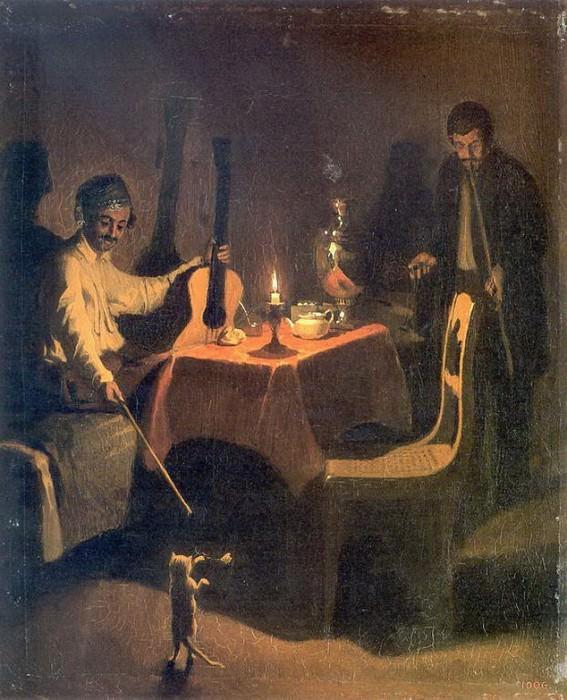 Офицер и денщик. 1850. Pavel Fedotov