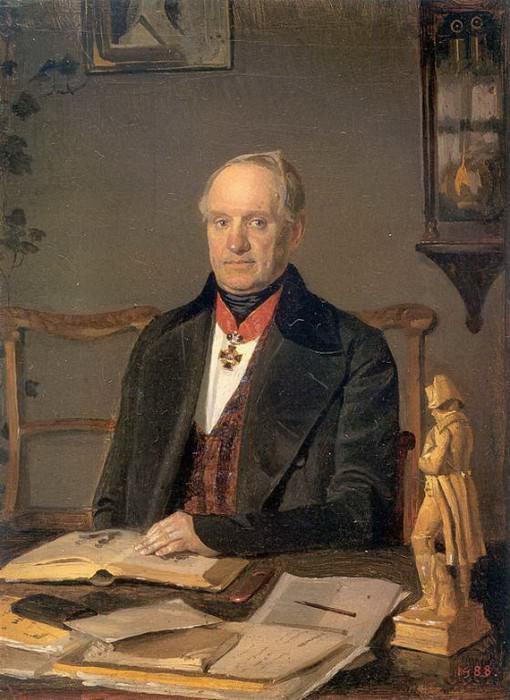 Портрет П.В.Ждановича. 1846. Pavel Fedotov