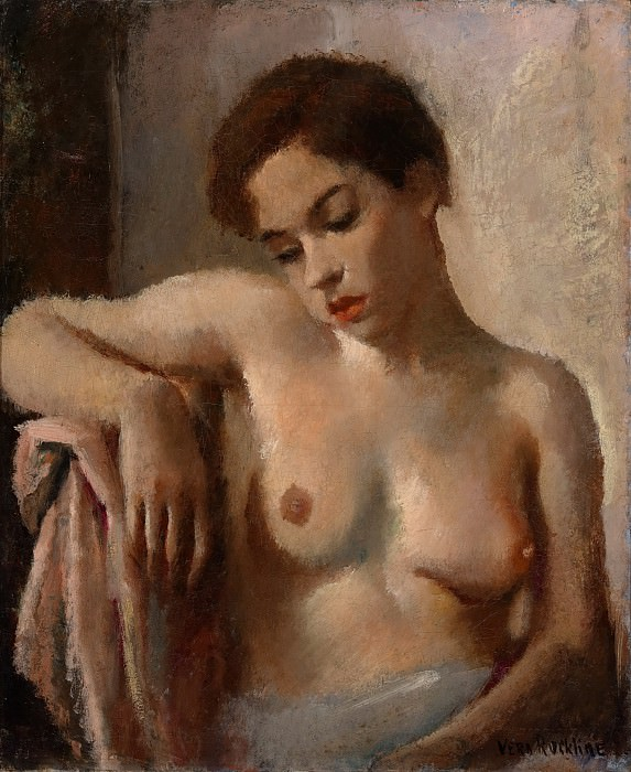 Seated nude. Vera Rockline
