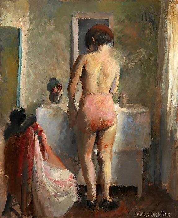By the mirror. Vera Rockline