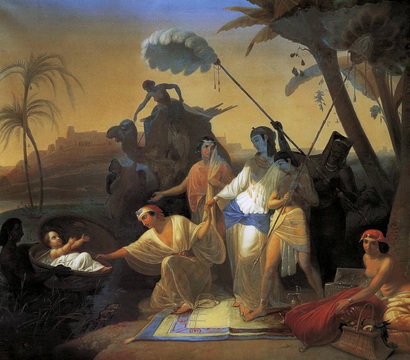 Обретение Моисея дочерью фараона. Константин Дмитриевич Флавицкий