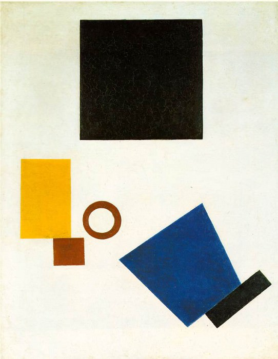 Malevitj Suprematism - Self-Portrait in Two Dimensions 1915,. Казимир Северинович Малевич