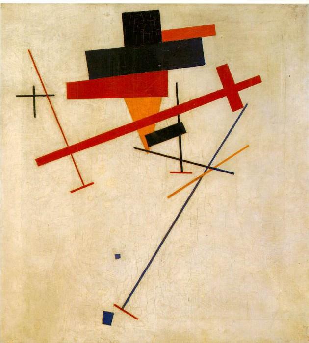 Malevitj Suprematist painting 1915-16, Wilhelm Hacke Museum,. Kazimir Malevich