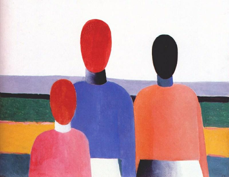 malevich three female figures c1928-32. Kazimir Malevich