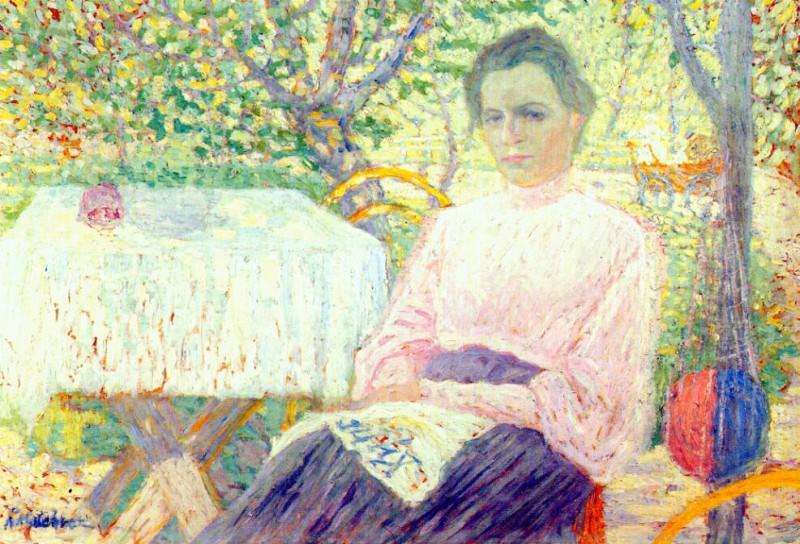 malevich portrait of member of artists family 1906. Kazimir Malevich