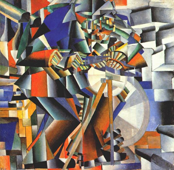 malevich the grinder (principle of flickering) 1912-13. Kazimir Malevich