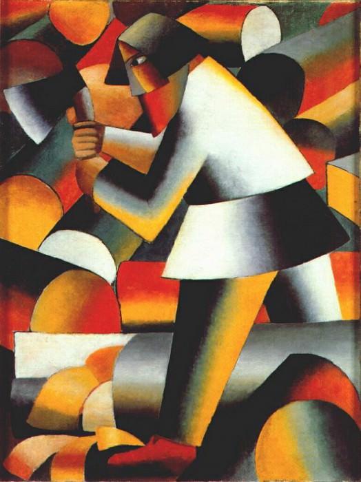 malevich the woodcutter 1912. Kazimir Malevich
