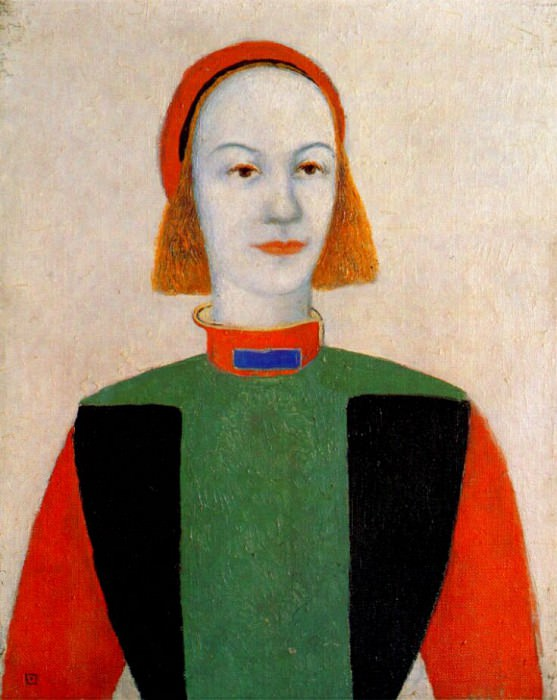 malevich head of a young girl of today 1932. Kazimir Malevich