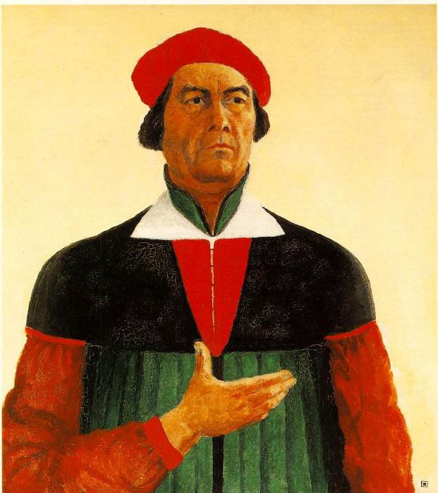 Malevitj Selfportrait 1933, State Russian Museum, St. Peters. Kazimir Malevich
