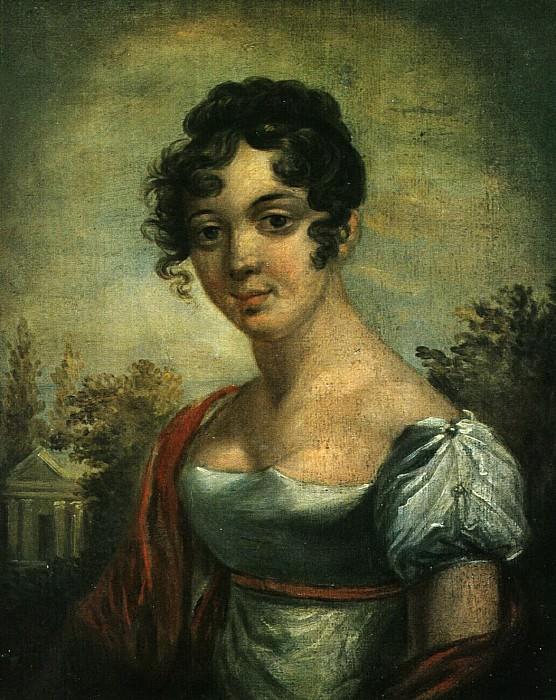 Портрет Ж.Лович. Этюд. 1810-е. Vasily Tropinin