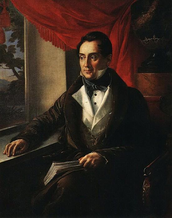 Портрет П. Н. Зубова. Около 1839. Vasily Tropinin