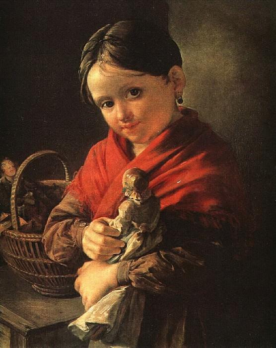 Девочка с куклой. 1841. Vasily Tropinin