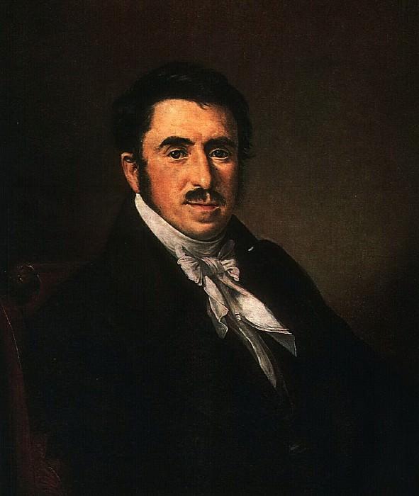 Портрет неизвестного с усами. 1839. Vasily Tropinin