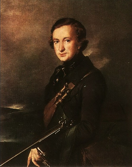 Портрет Ю. Ф. Самарина в охотничьем костюме. 1846. Vasily Tropinin