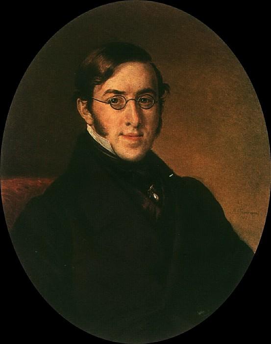 Портрет Н. Г. Устрялова. 1850. Василий Андреевич Тропинин