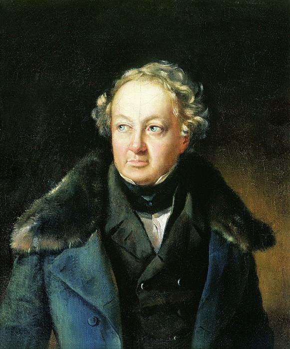 Портрет неизвестного в синей шубе. Vasily Tropinin